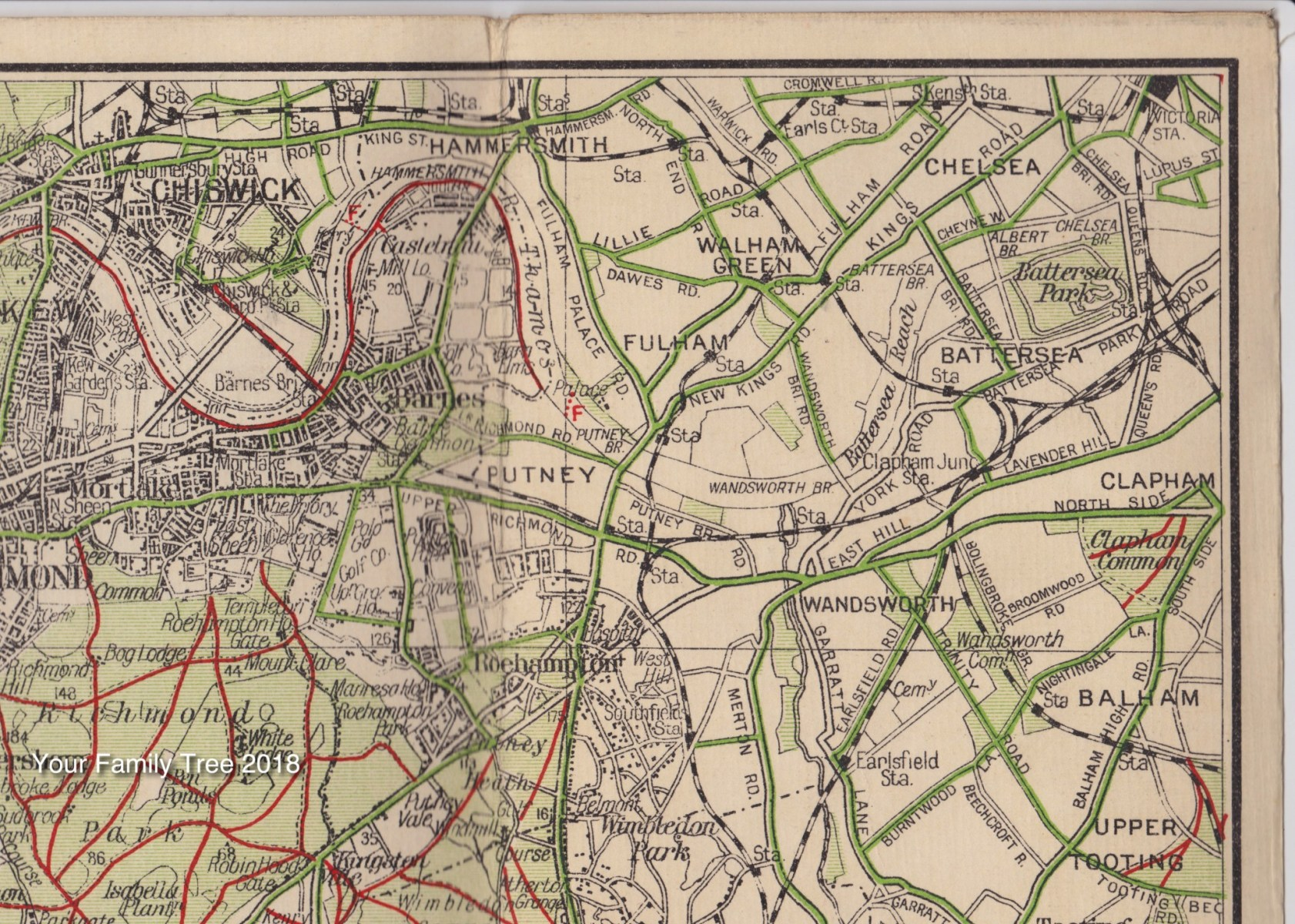 Map of S W London 1934