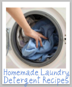 Save 46 cents a year by making your own laundry detergent!