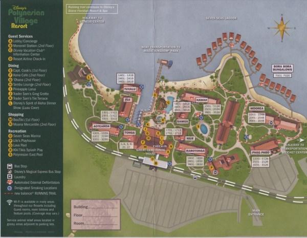 Disneys Polynesian Resort Map - Exploring Mars
