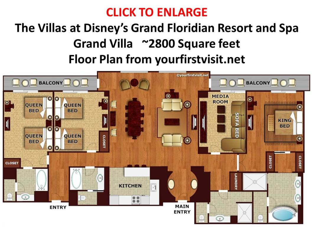 Disney Treehouse Villa Floor Plan Saratoga Springs Disney 3 Bedroom Grand Villa