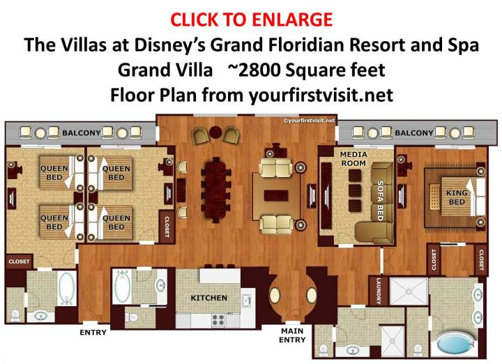Review The Villas At Disney S Grand Floridian Resort Spa Page. grand floridian 2 bedroom villa floor plan   Scifihits com
