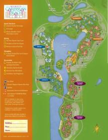 Disney Caribbean Beach Resort Map