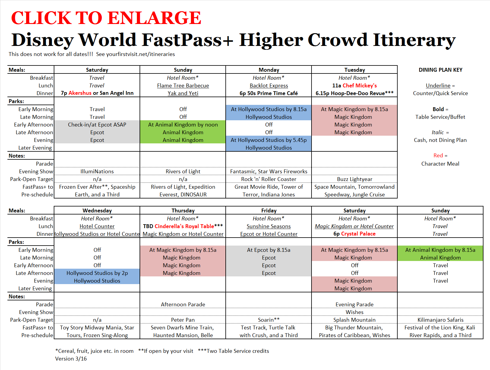 Fastpass And Daily Agendas Now Out For The High Crowd