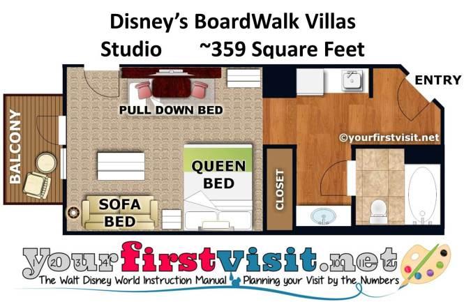 Floor Plan Studio Disney S Boardwalk Villas From Yourfirstvisit Net