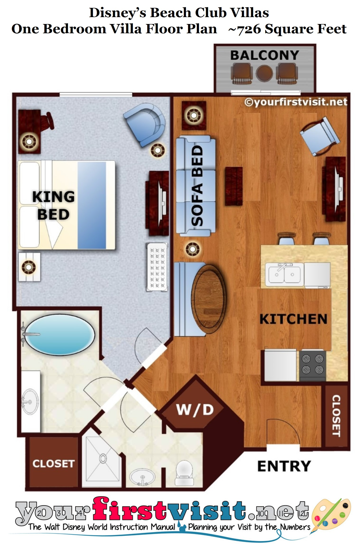 The LivingDiningKitchen Space Of One And Two Bedroom