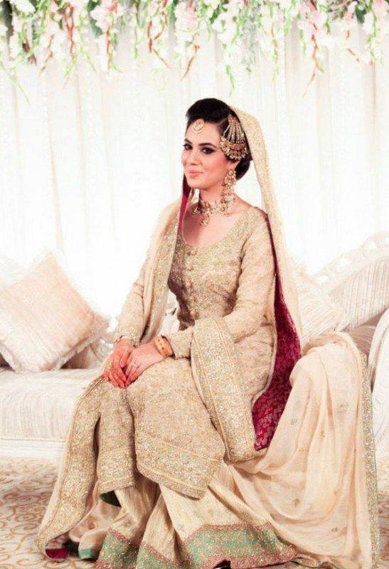 Pakistani bridal dresses in white