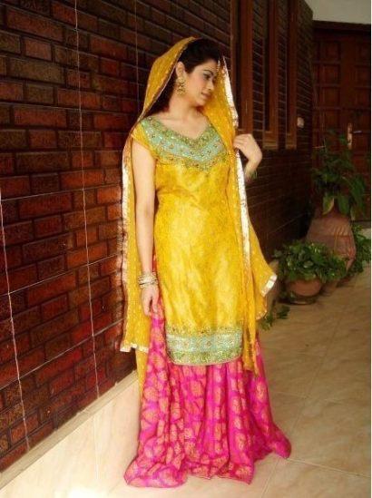 Pakistani Wedding Mehndi Dress Designs 2016 2