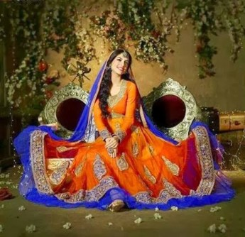 Pakistani Wedding Mehndi Dress Designs 2016 3