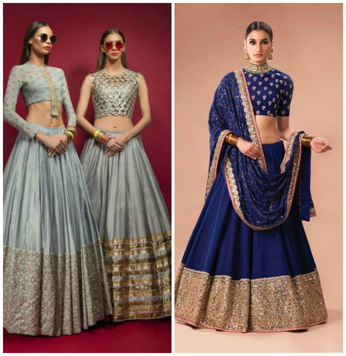 Tall Women Bridal Lehenga Dress Designs 2016