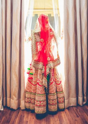 Modern Indian Lehanga Designs In Red Color 6