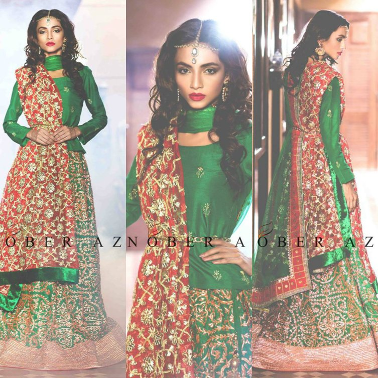 Sanobar Azfar Bridal Eid Lehanga Designs 2016