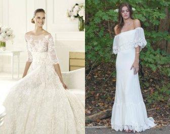 Off Shoulder Wedding Dress Designs For Summer Season