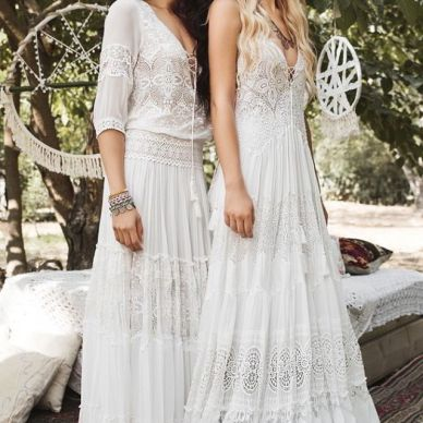 Inbal Raviv White Gypsy Bridal Collection Bohemian Style 2017