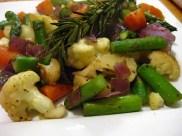 Rosemary Scented Pan Roasted Veggies