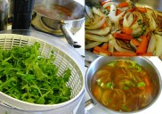 The simple makings for a wonderful soup.