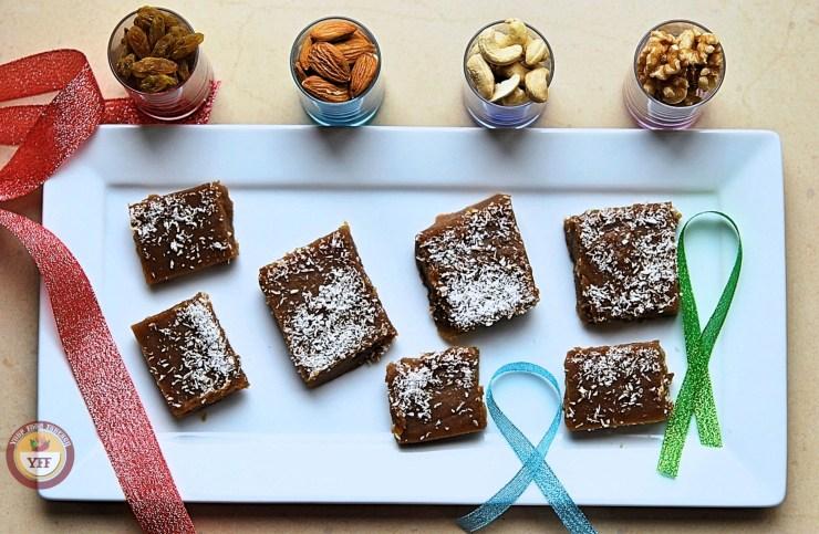 Singhara Recipes - Singhara - Water chestnut fudge Burfi | Your Food Fantasy