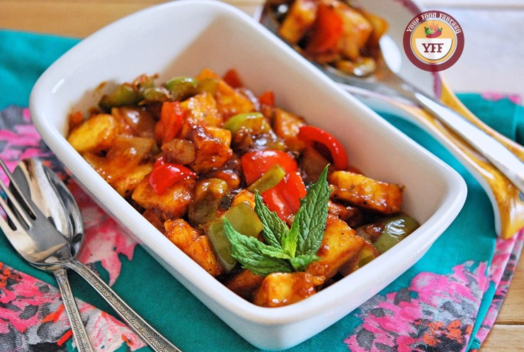 Chilli Paneer Recipe | Your Food Fantasy