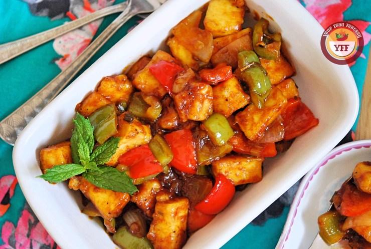 Chilli Paneer Recipe | Your Food Fantasy