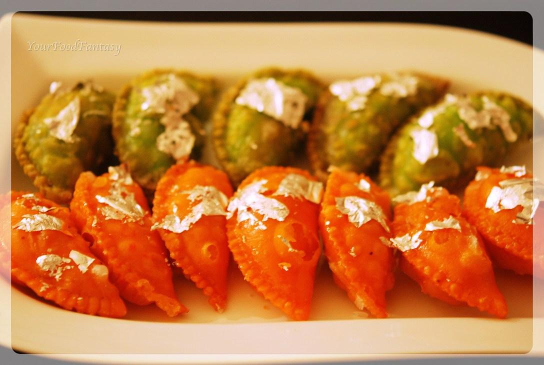 dry fruit gujiya recipe by meenu gupta | yourfoodfantasy