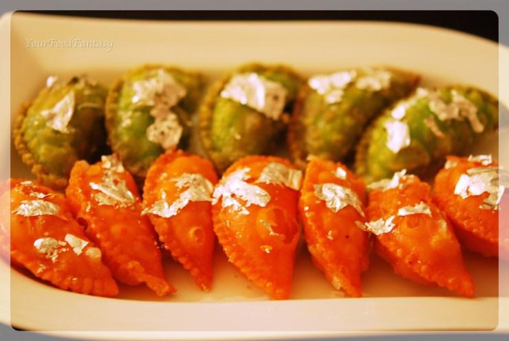 Dry fruit gujiya recipe | Colourful Gujiya | yourfoodfantasy