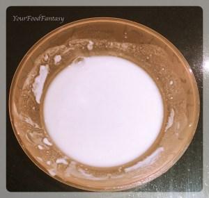 milk for joining ends of gujiya| gujiya recipe at yourfoodfantasy