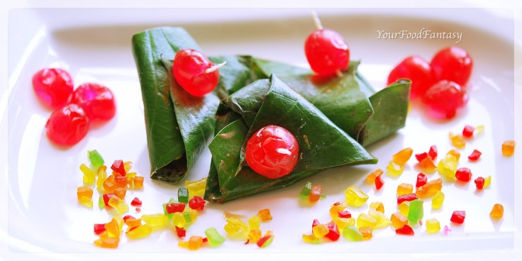 Delicious sweet paan or meetha paan | your food fantasy