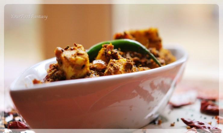 masala cottage cheese recipe | yourfoodfantasy.com by meenu gupta