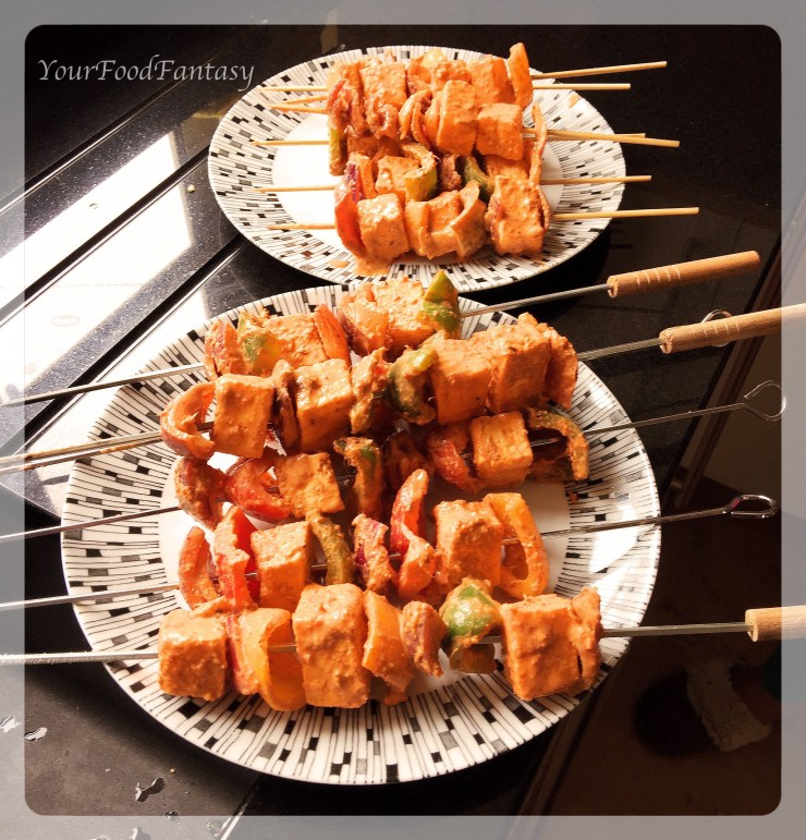Paneer tikka ready to be roasted | yourfoodfantasy.com.jpg