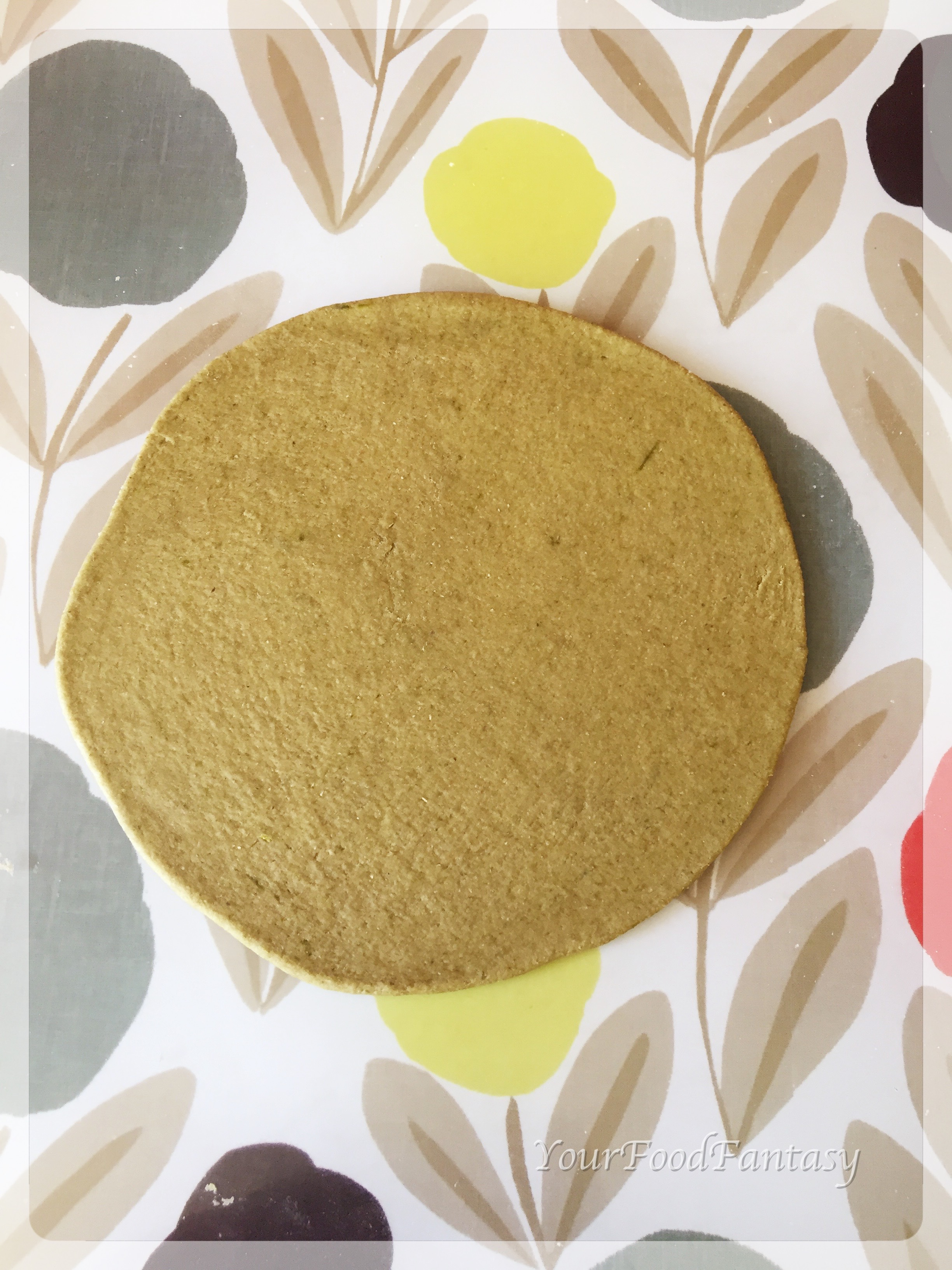 Palak Poori rolled and ready to be fried