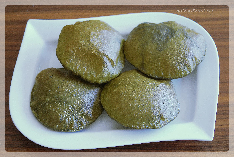 Palak Poori recipe at your food fantasy