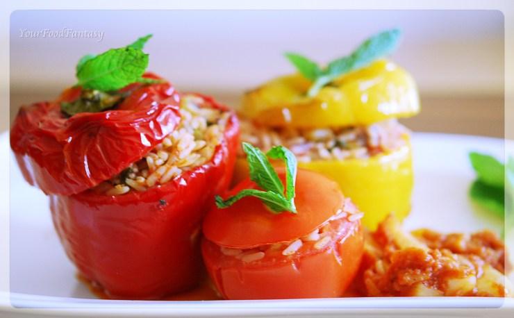 Gemista recipe | YourFoodFantasy | Meenu Gupta