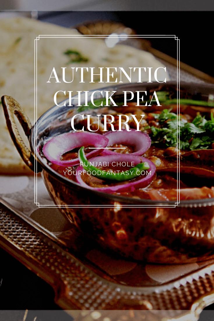 Chick Pea Curry | Authentic Punjabi Chole Recipe