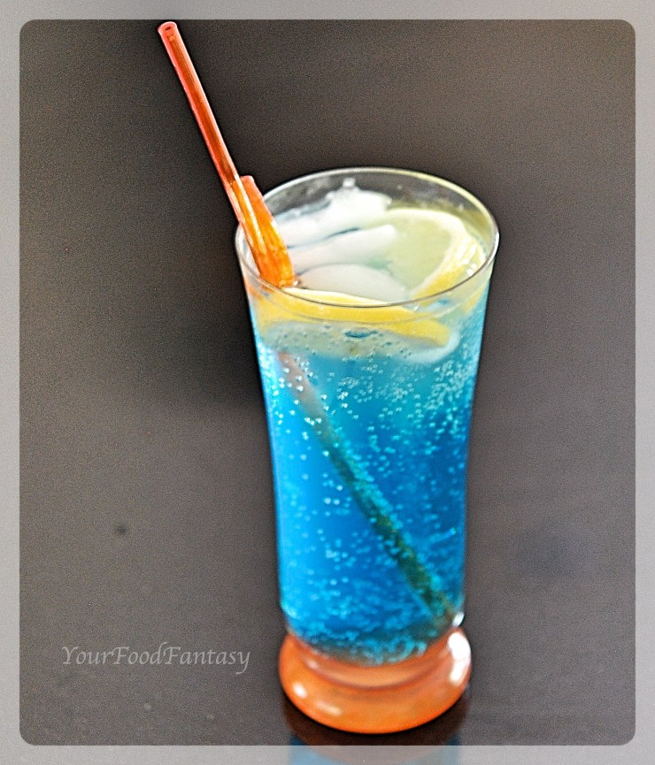 Blue Lagoon Mocktail | Your Food Fantasy