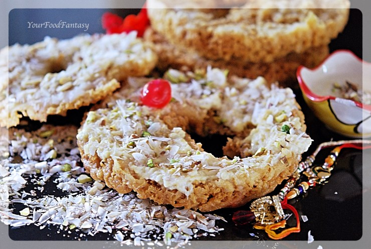 Ghevar - an Indian sweet | YourFoodFantasy.com