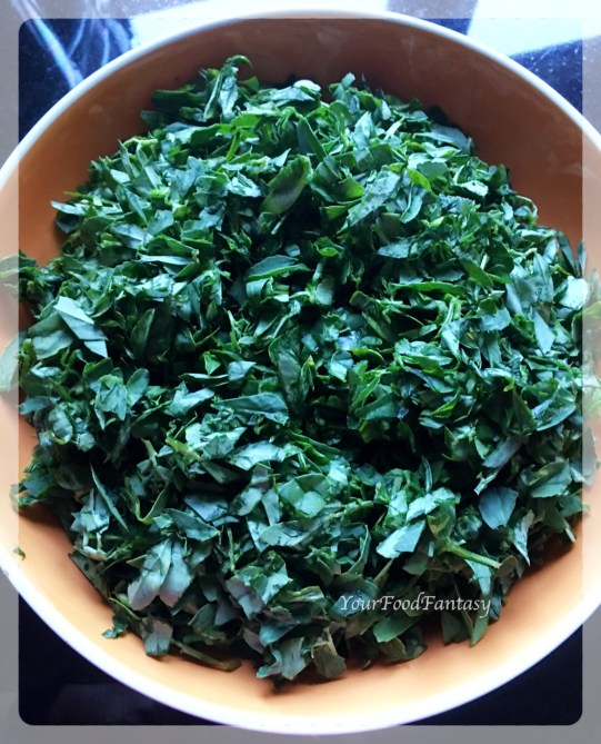 Fenugreek Leaves for Fenugreek Paratha | YourFoodFantasy.com