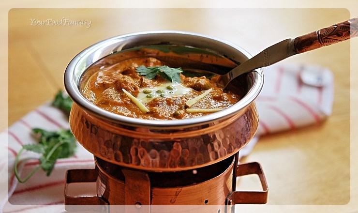 Matar Mushroom | Indian Curry | YourFoodFantasy.com