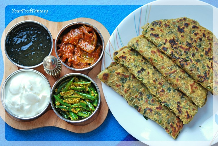 Methi Paratha | YourFoodFantasy.com