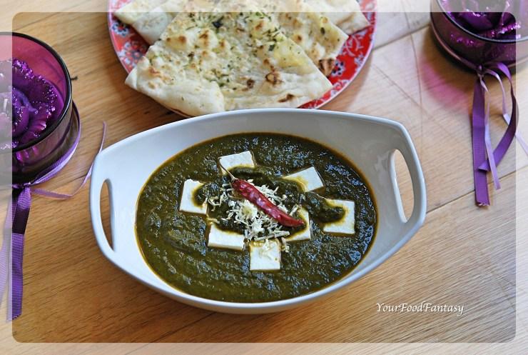 Palak Paneer Recipe   YourFoodFantasy.com by Meenu Gupta