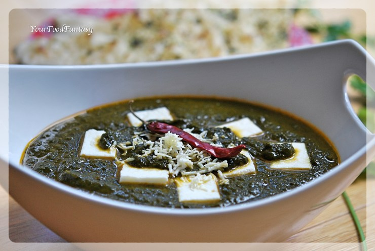 Palak Paneer | Spinach Paneer | YourFoodFantasy.com