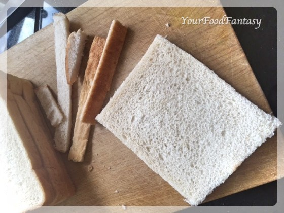 Cutting Edges of Bread for Stuffed Bread Roll | YourFoodFantasy.com