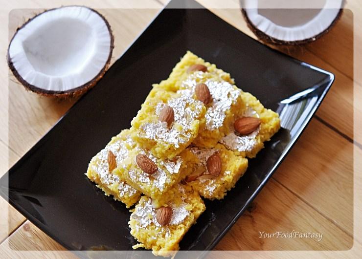 Fresh Coconut burfi - Diwali recipes