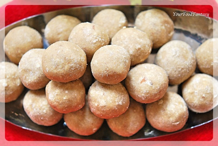 Wheat Flour Ladoo | Your Food Fantasy