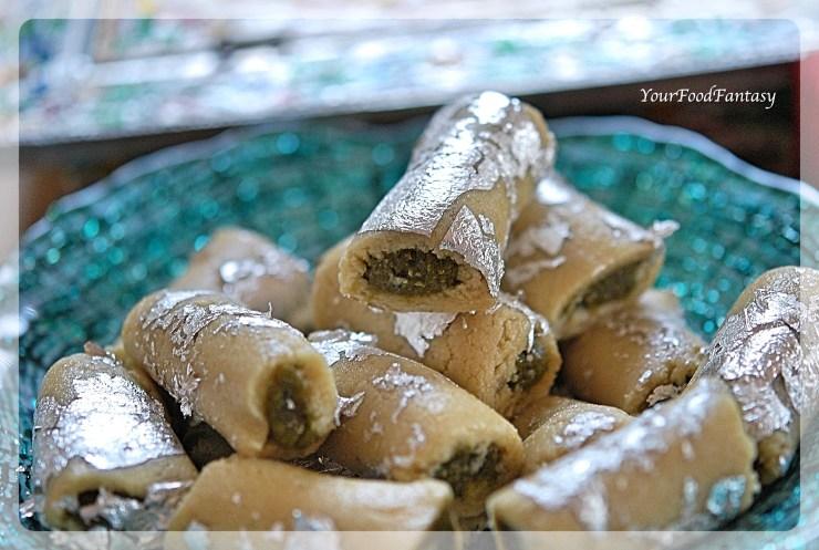 Kaju Pista Roll Recipe | YourFoodFantasy.com by Meenu Gupta