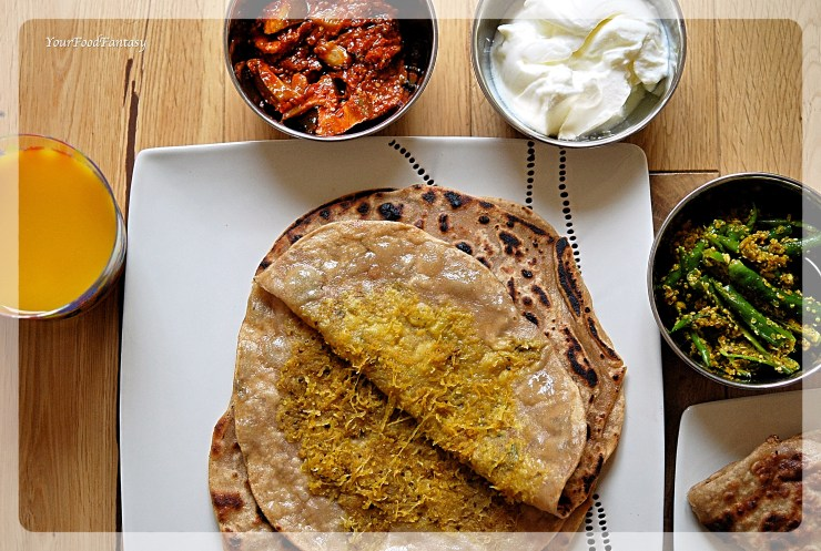 Mooli Paratha Recipe | YourFoodFantasy.com by Meenu Gupta