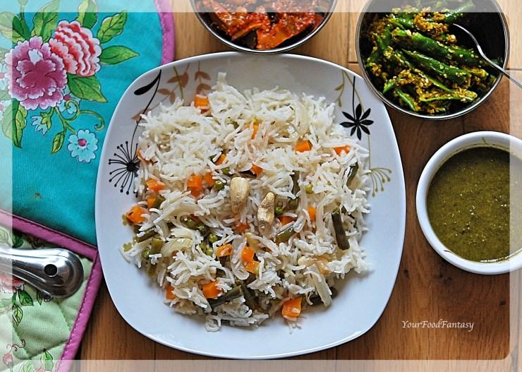 Simple Recipe of Veg Pulao | Your Food Fantasy