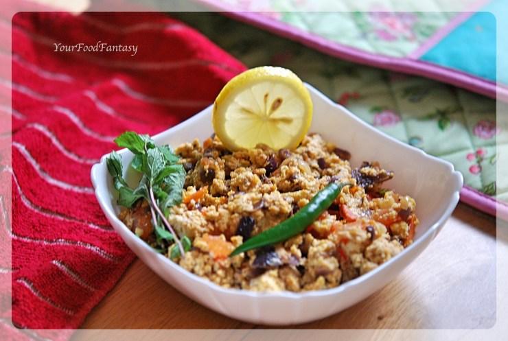 Paneer Bhurji Recipe   YourFoodFantasy.com by Menenu Gupta