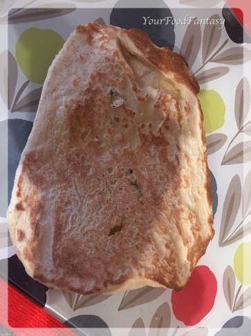 Other side of Butter Naan | YourFoodFantasy