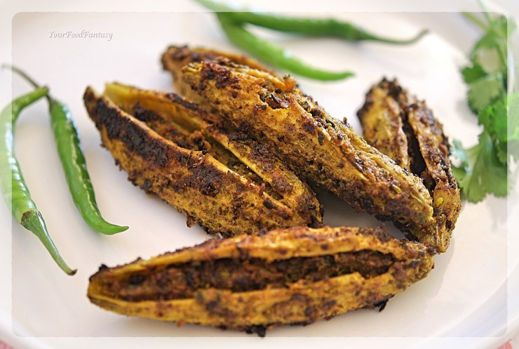 How to make Stuffed Karela | YourFoodFantasy.com by Meenu Gupta