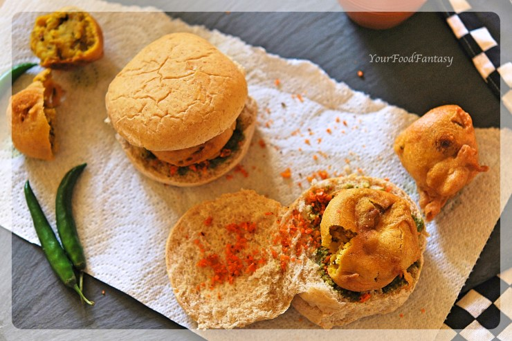 Mumbai Style Vada Pav Recipe | Your Food Fantasy
