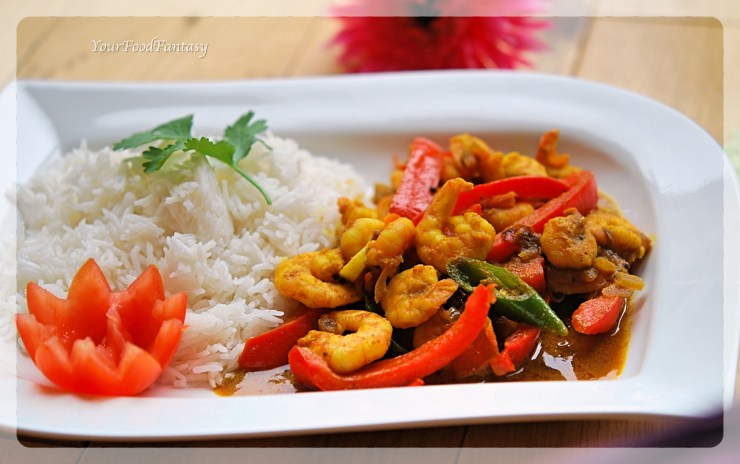 Prawn Capsicum Curry Indian Style | YourFoodFantasy.com